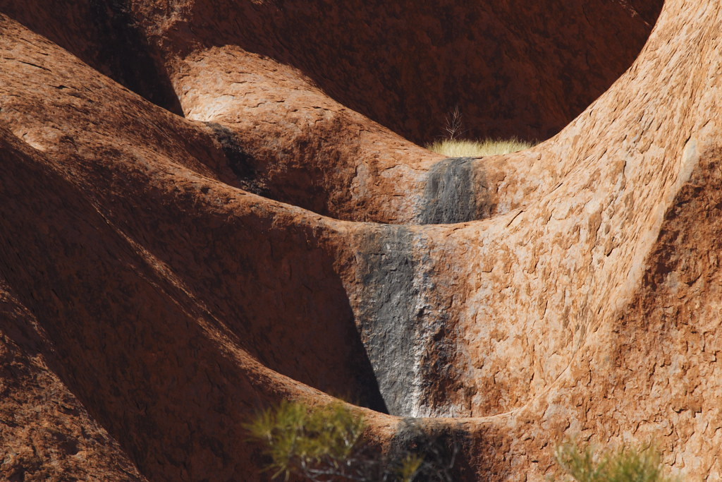 See The Sunset And The Incredible Bright Red Color Of Mountain Uluru