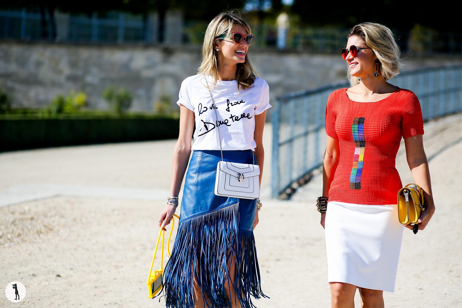 Helena Bordon and Juliana Santos - Paris fashion week RDT SS15 (1)