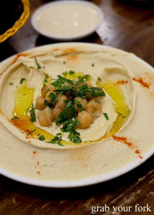 Hommus chickpea dip at Jasmin1 in Punchbowl Sydney
