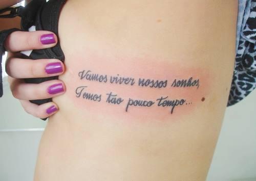 Tatuagem Feminina Costela Frase Ruth Silva Flickr