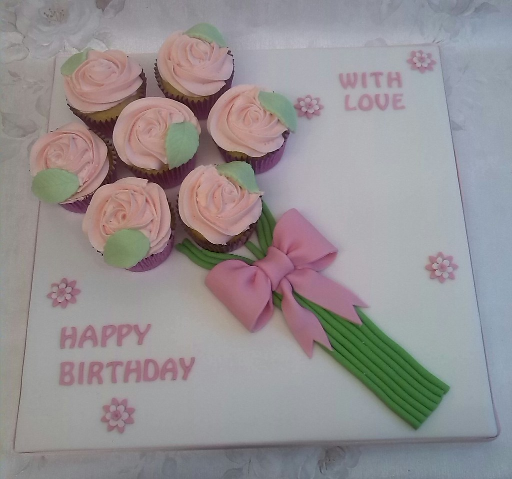 Cupcake Bouquet Board | Something a bit different for my mum… | Flickr