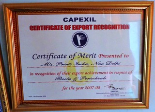 Certificate of Export Recognition (2007-08) | by printspublications