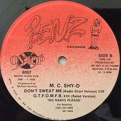 M.C. SHY-D:DON'T SWEAT ME(LABEL SIDE-B)