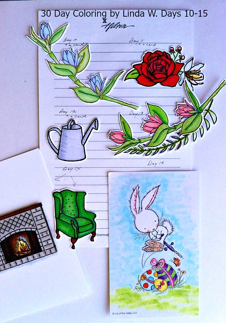 30 day coloring days 10 to 15
