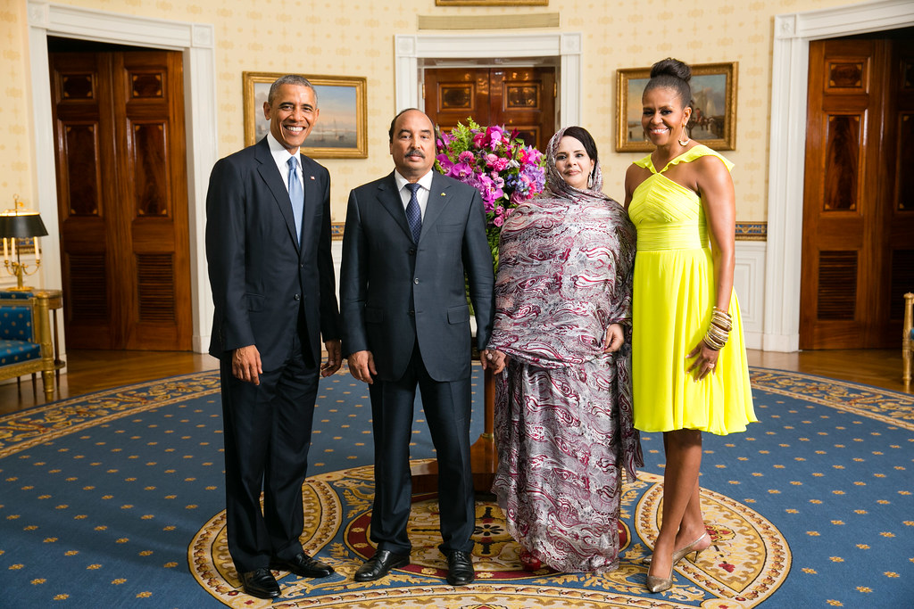 President Barack Obama And First Lady Michelle Greet His Excellency Mohamed Ould Abdel Aziz