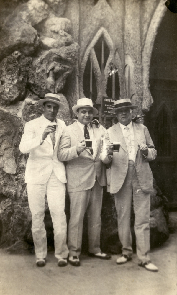 Fritz Gordon, Al Capone and Mayor of Havana, Julio Morales - Cuba