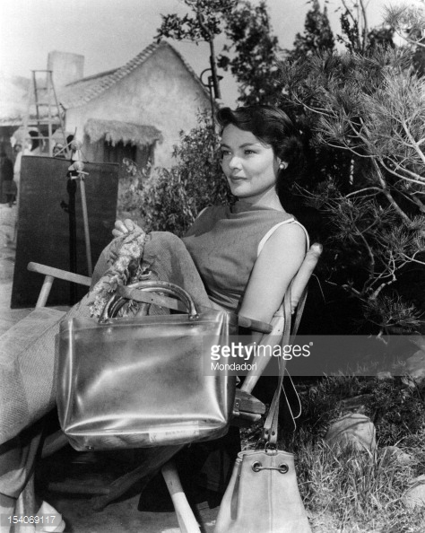 The Left Hand of God - backstage - Gene Tierney