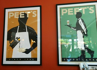 mi favorite peet's of the north w/ its majestic Michael Schwab posters ♥ | by meligrosa