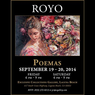 "ROYO, ""Poemas"" September 19th and 20th at EC Laguna Beach Gallery. Pr@ecgallery.com 
