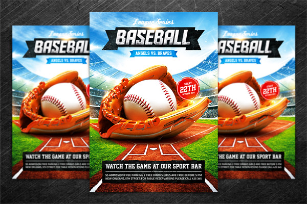Baseball League Series Flyer, PSD Template | "|600|400|?|3a2288469db2e71e855c2cb82bf2a155|False|UNLIKELY|0.35980865359306335