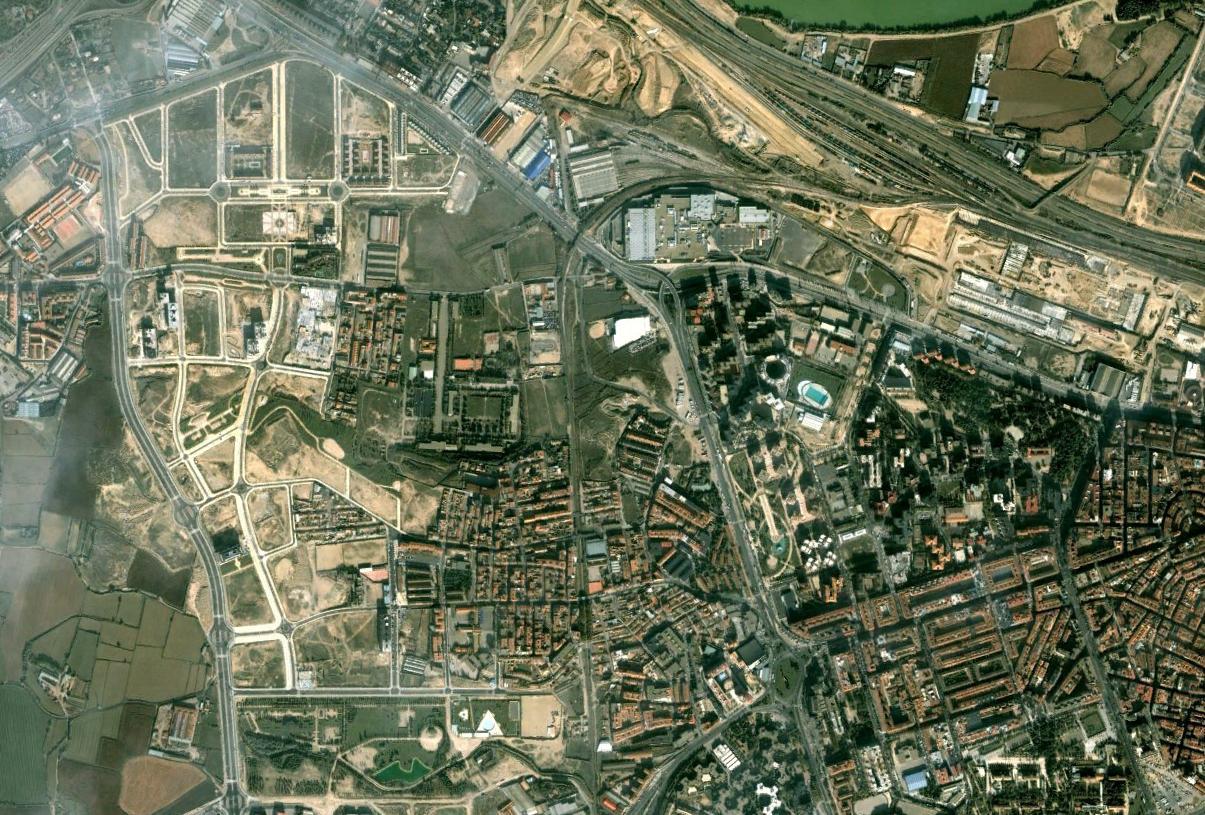 oliver-valdefierro, delicias, zaragoza, guiones para molar, antes, urbanismo, planeamiento, urbano, desastre, urbanístico, construcción