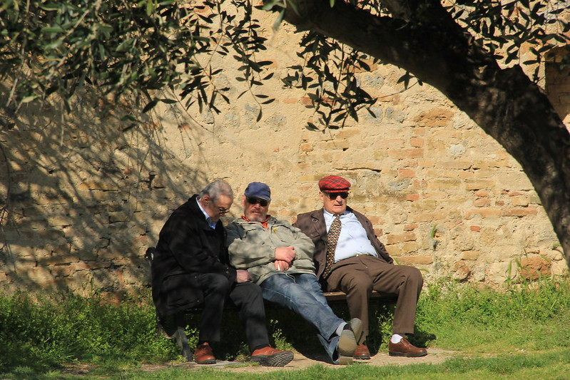 Local men relaxing in the grounds of the fortress