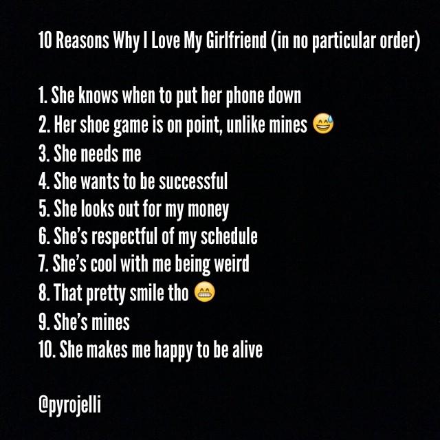 10 reasons why i love my girlfriend by pyrojelli