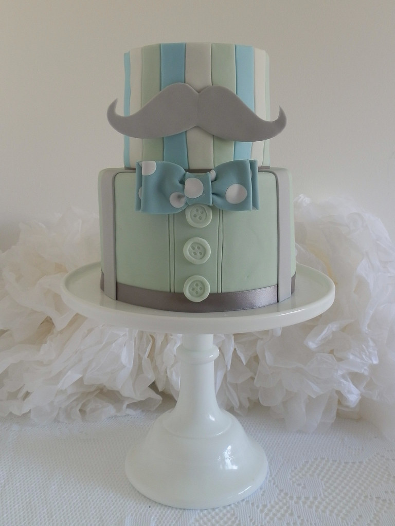 Blue And Grey Cake