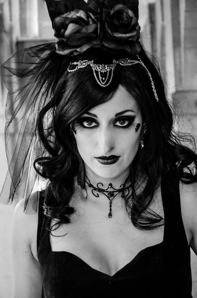Gothic Bride With Veil Stock Photo - Image: 52807403