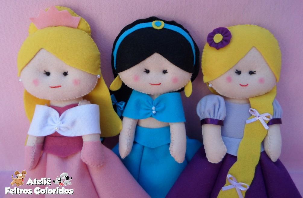 princesas da disney em feltro aurora jasmine e rapunzel flickr