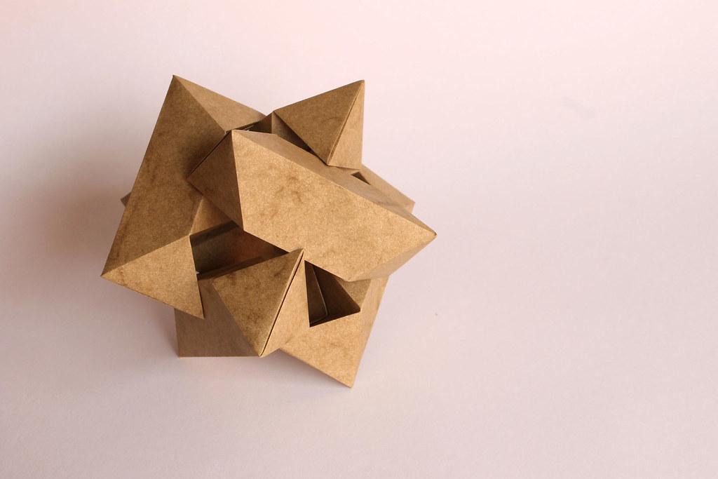 Origami Burr Puzzle | Para Yadira  6 squares of elephant hid