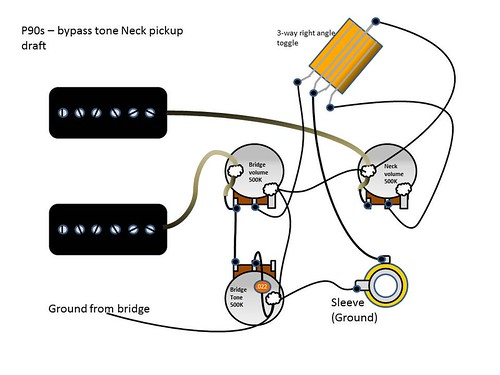 p90 wiring diagram for sg two p90 s over 2 volume and 1 tone my les paul forum  two p90 s over 2 volume and 1 tone my