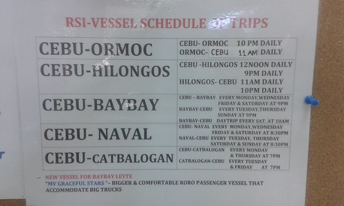 Roble Shipping Inc Schedule Of Trips August 6 2014
