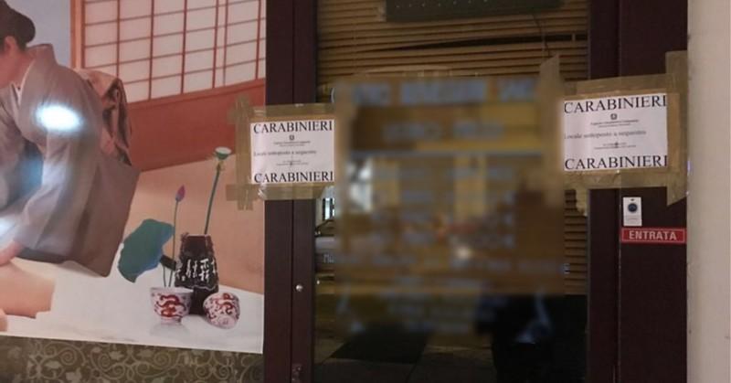 Sequestro centro massaggi orientale a Salerno