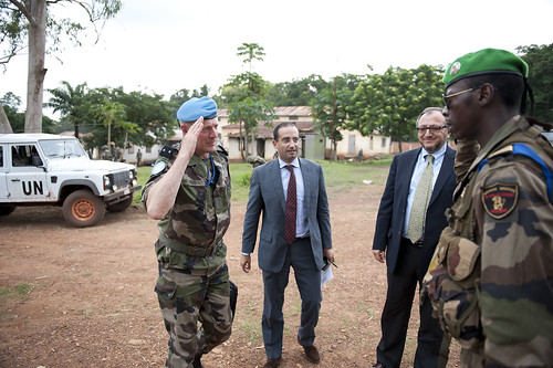 Jack Christofides, Director Africa Division II for the Department of Peacekeeping Operations visits Bambari in Central African Republic | by Mission des Nations Unies en RCA