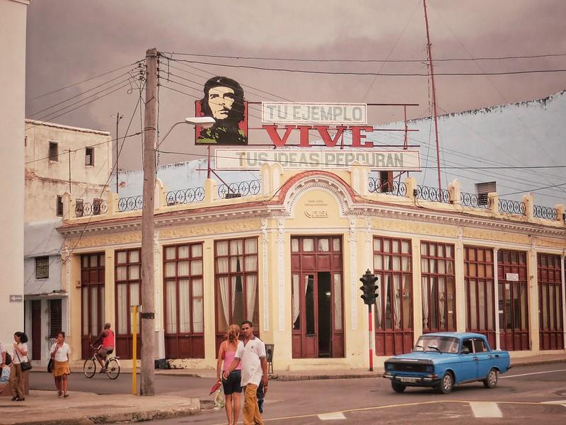 Che Guevara billboard in Cienfuegos, Cuba
