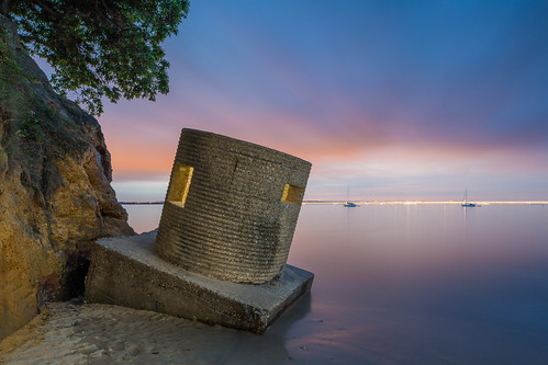 Event Horizon (Redend Point Pillbox With Ferry Light Trail), Studland Dorset | by flatworldsedge
