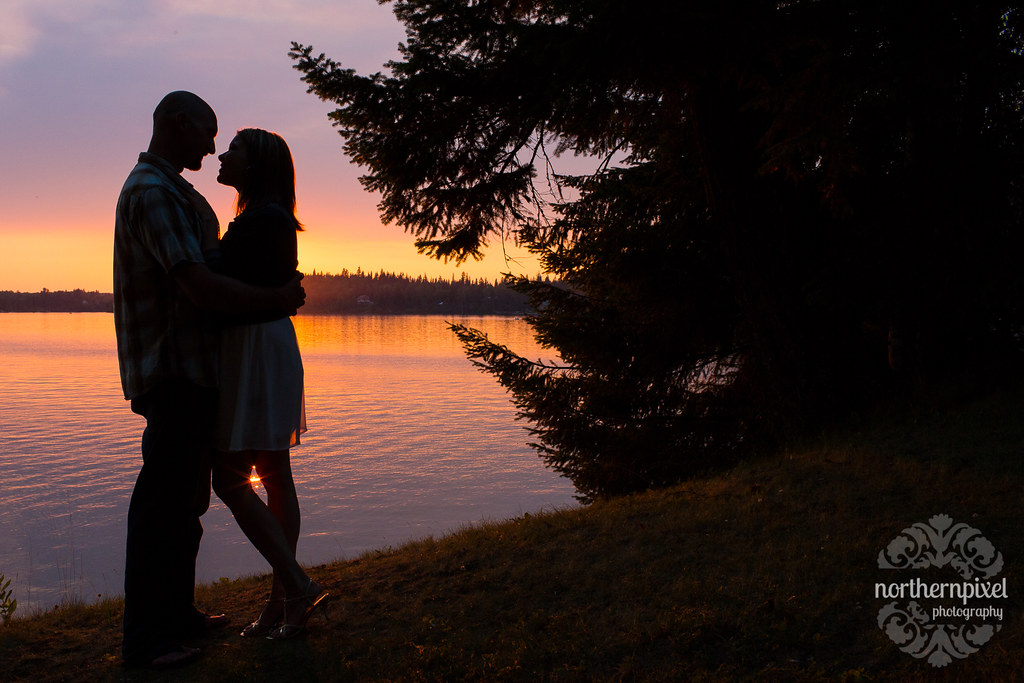 sunset silhouette ness lake engagement one of my favouri flickr