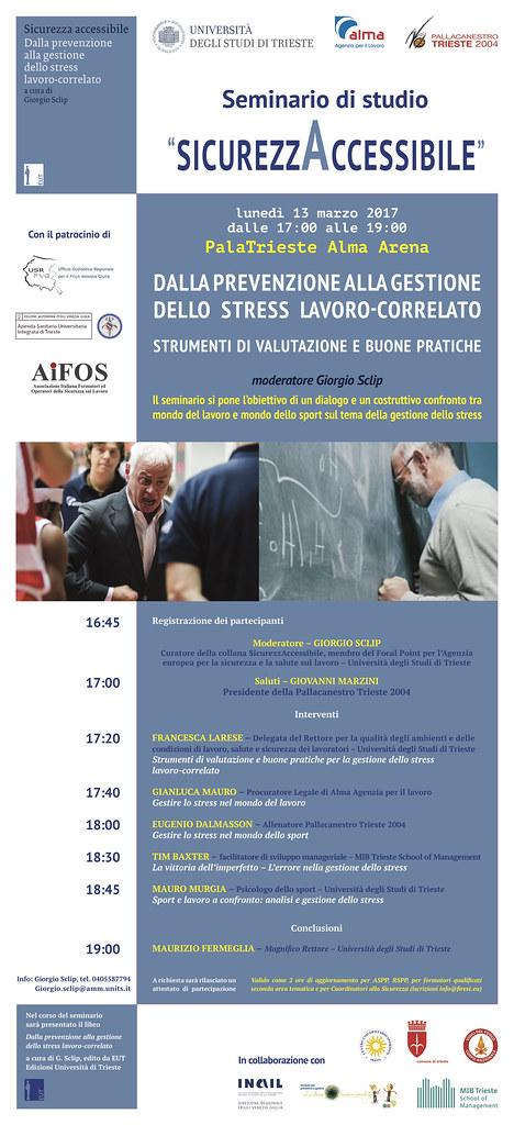 Locandina Convegno Dalla Prevenzione alla Gestione dello Stress Lavoro-Correlato