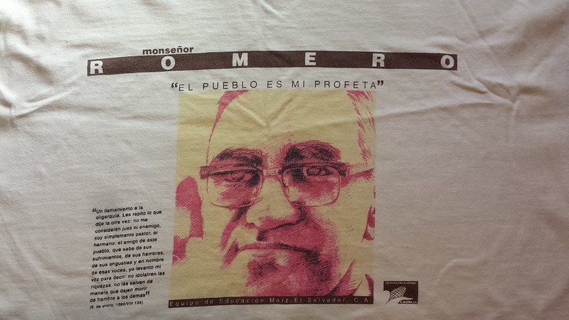 Oscar Romero t-shirt from El Salvador, 1994