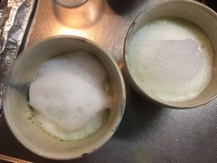 love this #porlex mill that turns green tea to #matcha ...gotta work on frothing milk though...matcha latte❤︎  #matchalatte #osaka #japan #抹茶ラッテ #ポーレックス #大阪