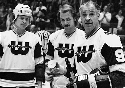 Mark, Marty and Gordie Howe Whalers