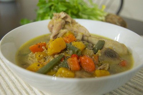 chicken and leftovers soup | by echandae