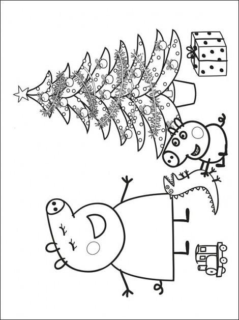Natal Peppa Pig Desenhos Do Peppa Pig Para Colorir Pintar Flickr