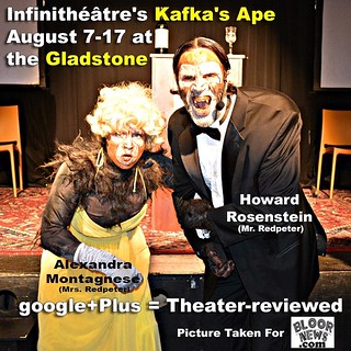 Infinithéâtre's Kafka's Ape August 7-17 Gladstone Hotel http://bloornews.com/blog-toronto/infinitheatre-kafka-ape-august-7-17-gladstone-hotel/  #gladstone #toronto #theatre #stage  Add Us google+Plus = Theater-reviewed | by imagelibrary.ca