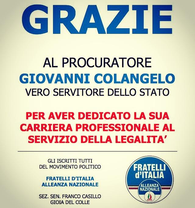 FRATELLI D'ITALIA E COLANGELO