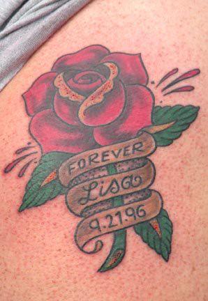 Red Rose Banner Tattoo Design 089 Tattoosaddictcomwp Co Flickr