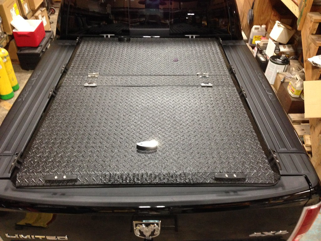 heavy-duty truck bed cover on ram with rambox | a black diam… | flickr