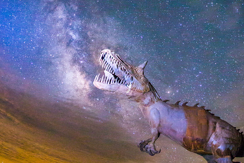 Dinosaur eating the Milky Way | by slworking2