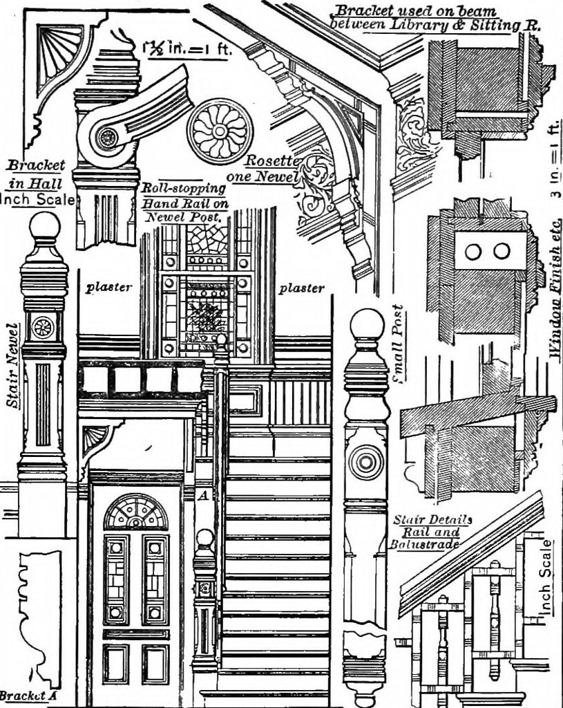 image from page 100 of american cottages consisting of f flickr Newel Post Plans image from page 100 of american cottages consisting of fouty four large quarto