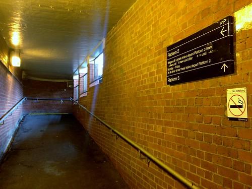 Platform entrance to Chatham Railway Station