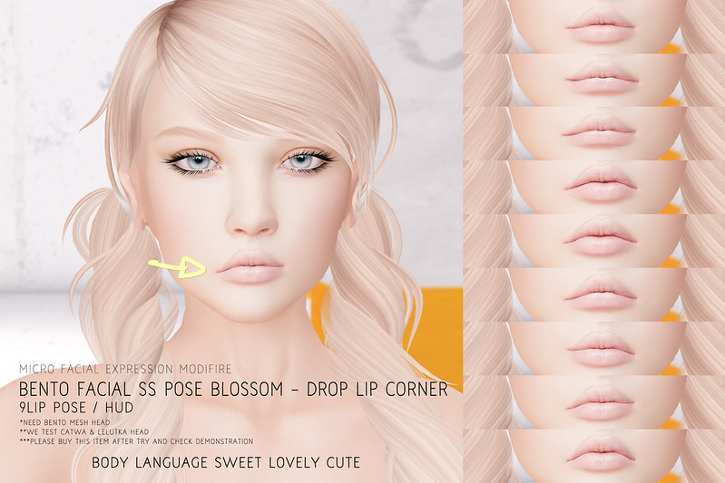 Facial SS POSE Blossom - Drop Lip Corner @ Kustom9