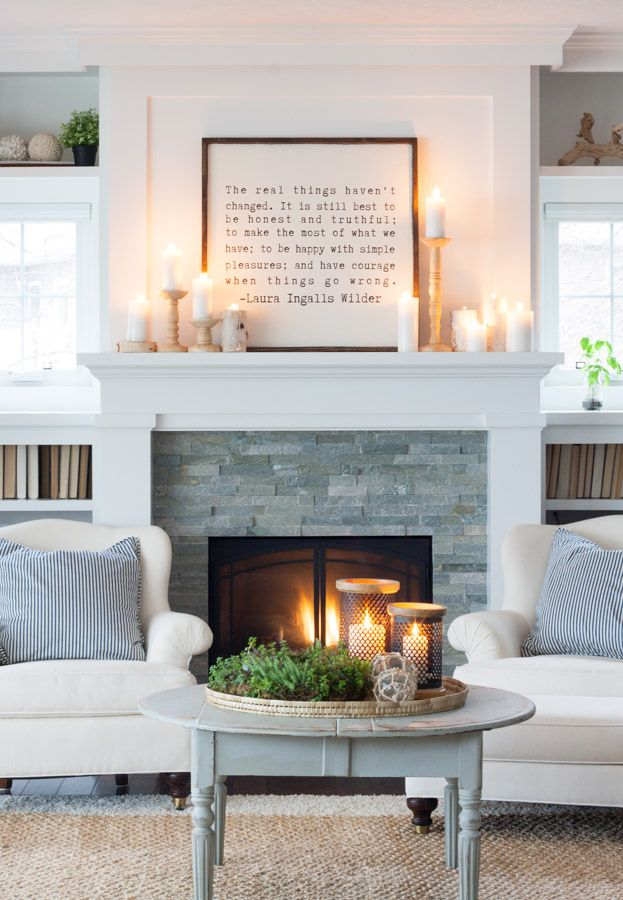 "Get ready to get inspired and your Pinterest ""Home Decor"" board is about to gain a few pins because I'm going to show you 4 ways to decorate your fireplace"
