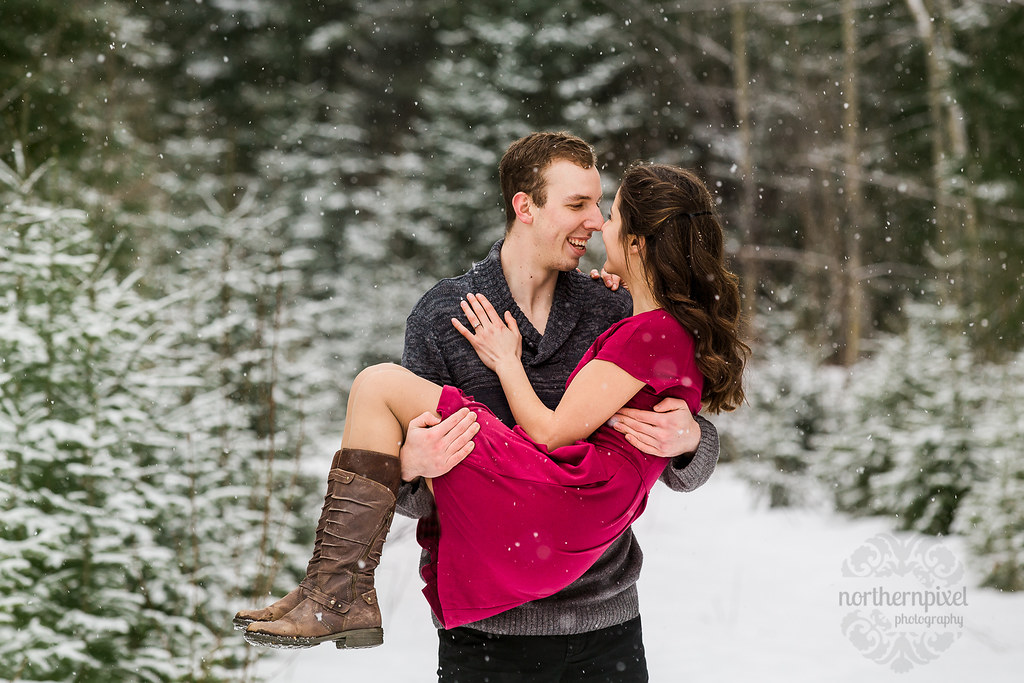 Winter Engagement, Prince George BC