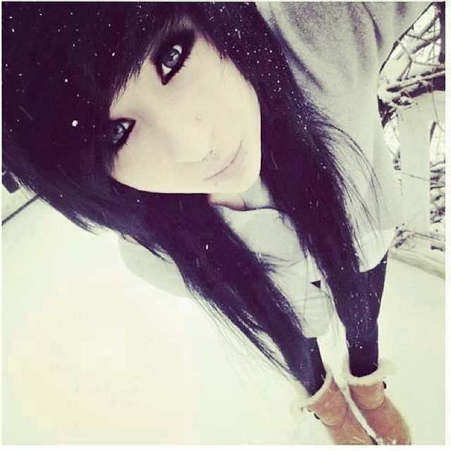 Snow White Emo Girl Pretty Cute Hair Eyes Look S Flickr