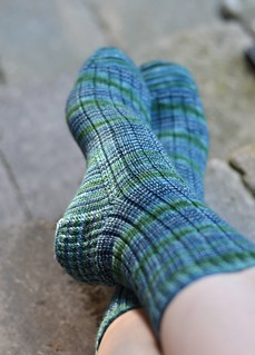 Ms Larock Ribbed Sock | by crazyknittinglady
