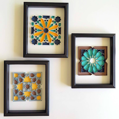 Alhambra 1, 2, 3 - On Edge Paper Art Series by TealCup