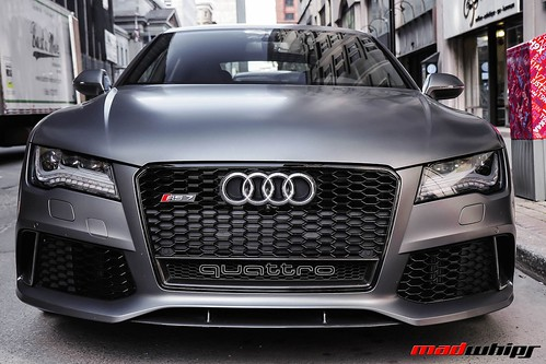 matte grey audi rs7 spotted in montreal during the. Black Bedroom Furniture Sets. Home Design Ideas