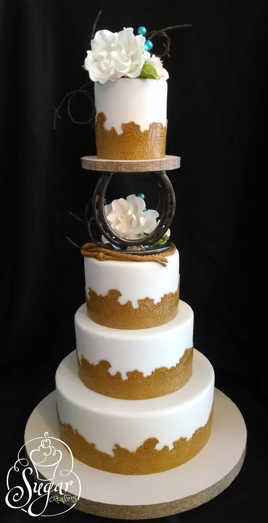 western wedding cake   The separator was made by my husband …   Flickr