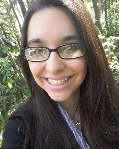 Highly Myopic Cute Geeky Girl With Glasses